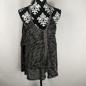 PPLA Clothing Black Print Winona Cold Size Small K